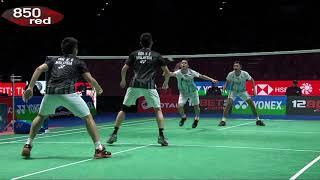 Badminton-2019-AE-MD-QF- F Alfian/M R Ardianto v W K Tan/V S  Goh