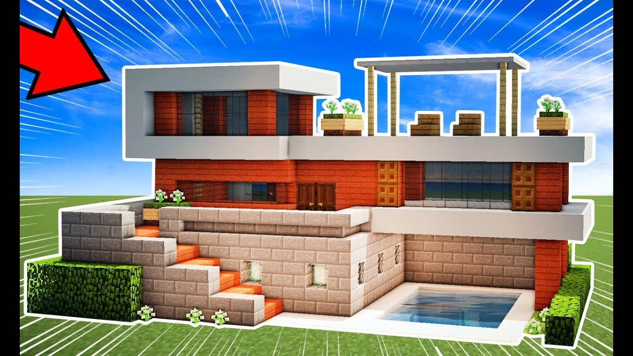 Minecraft tutorial casa moderna subterr nea youtube for Casa moderna minecraft 0 12 1