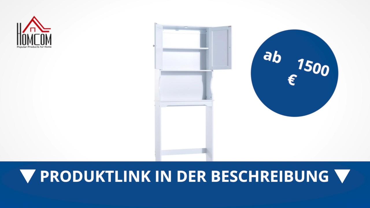 Homcom Überbauschrank Badregal Waschmaschinenschrank - direkt kaufen ...