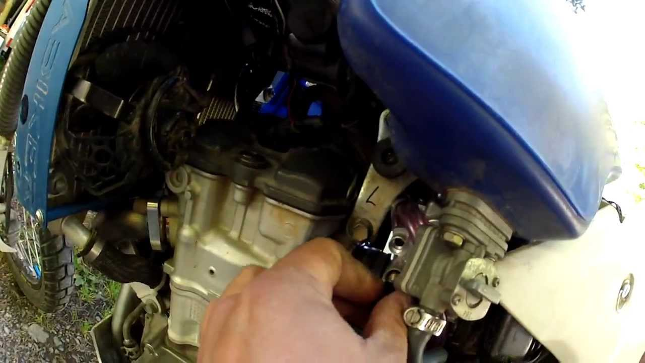 DRZ 400 FCR Carb Choke solution when using a 4 gal  Clark tank