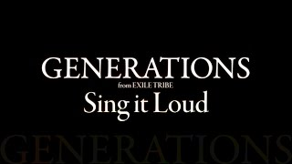 GENERATIONS from EXILE TRIBE/Sing it Loud 永池南津子 動画 25