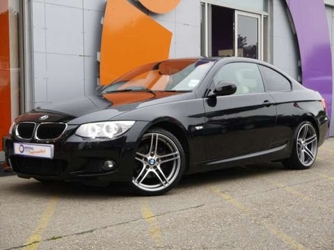 2010 bmw 320d m sport coupe 184 auto black for sale in hampshire youtube. Black Bedroom Furniture Sets. Home Design Ideas