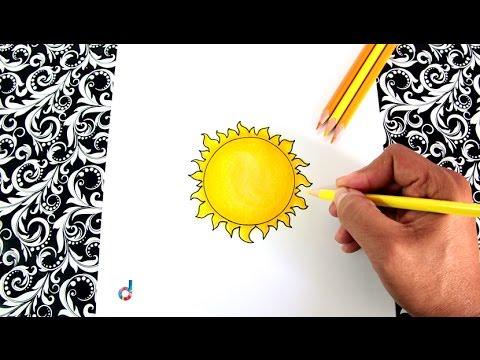 Cómo Dibujar Un Sol Paso A Paso How To Draw A Sun Youtube