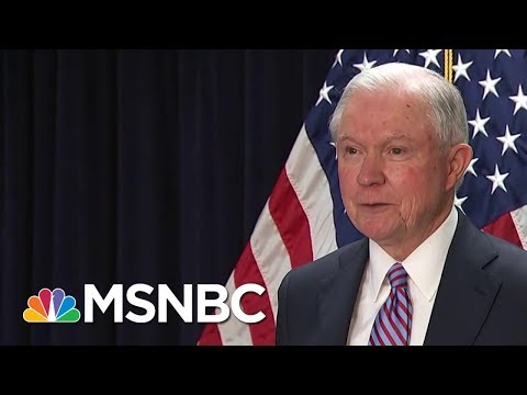 Attorney General Jeff Sessions Was Interviewed By Special Counsel | Velshi & Ruhle | MSNBC