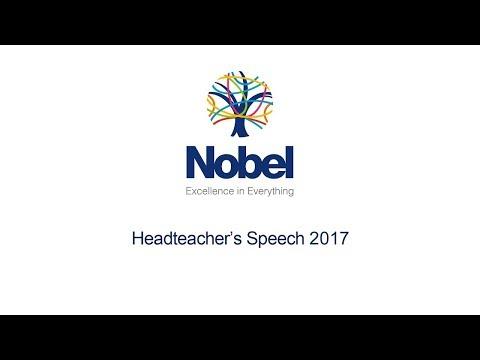 Nobel School Headteacher's Speech 2017