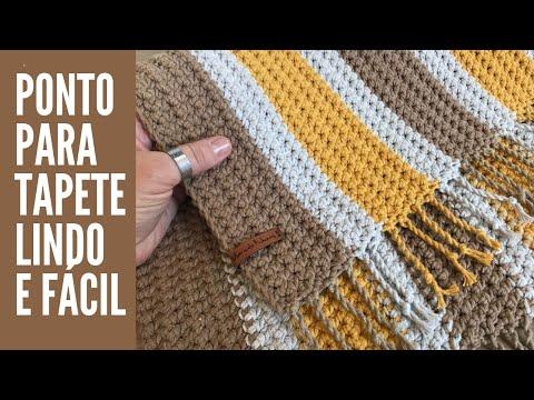 Ponto para Tapete em Crochê - Lindo e Fácil - Por Marcelo Nunes