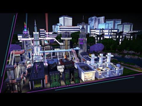 Futuristic Metropolis | The Sims 4 Speed Build thumbnail