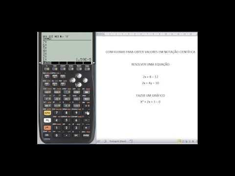 HP50g - Visualizar dados em notação científica
