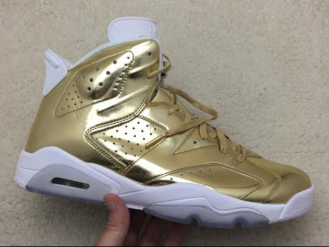 5848598d91e82b Can You Pull Off The Air Jordan 6 Pinnacle Metallic Gold  - YouTube