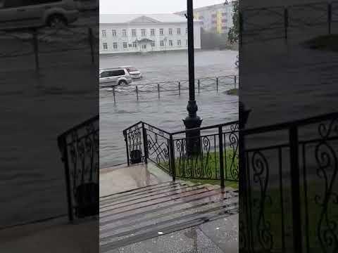 Поронайск. Тайфун 5 сентября