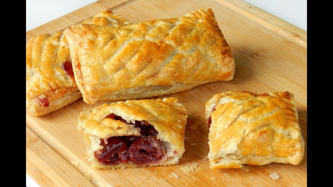 How To Make Cherry Puff Pastry Easy Recipe Video