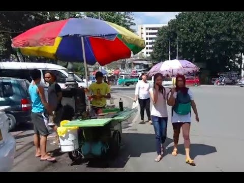 Philippines LIVE - Morning Street Walk Cebu City Philippines Capitol Site