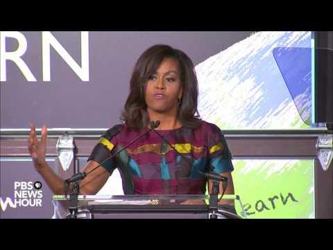 Watch Michelle Obama speak on International Women's Day