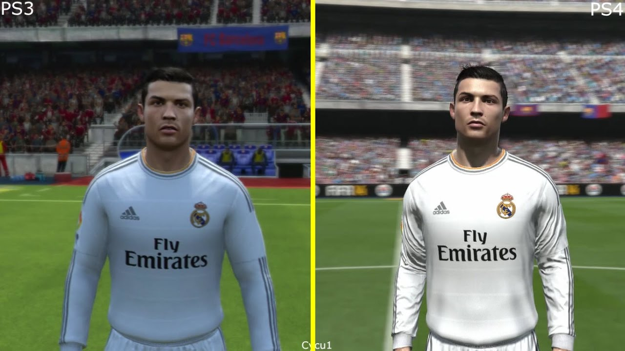 fifa 14 ps3 vs ps4 graphics comparison real madrid youtube