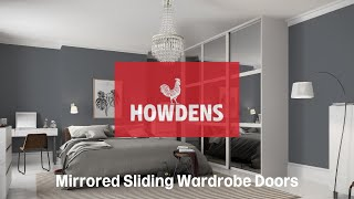 Mirror Door White Edge - sliding wardrobe doors from Howdens Joinery