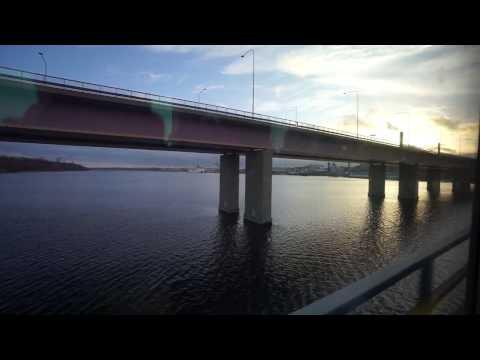 Sweden, Stockholm, Lidingö, tram ride from Torsvik to Ropsten