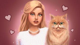 SIMS 4 PRETTY Sim & PERSIAN CAT Create A Sim + Speed Edit