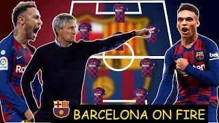 Fc barcelona potential lineup with quique seitan ft. neymar jr, lautaro martinez, rodrigo caio possible dream team 2020 b...