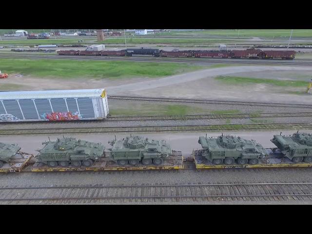 ARMY! DJI Phantom 3 Video - Military Vehicles at Moncton Gordon Yard (June 14, 2017)