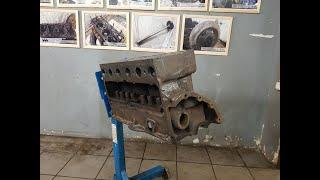ПОЛУТОРКА: разбор двигателя пролежавшего 75 лет на дне Ладоги. Снятие поддона, поршневая.