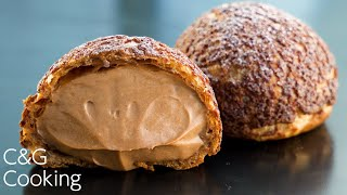 チョコクッキーシュークリーム | お菓子作り クッキーシュー スイーツ
