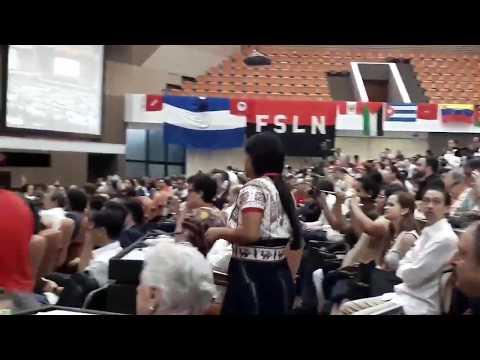 Evo Morales fala no Foro de São Paulo, em Havana.