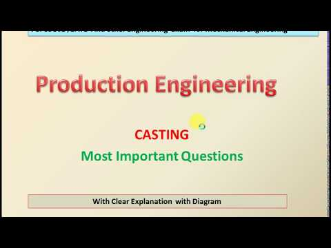 CASTING PROCESS IN PRODUCTION ENGINEERING FOR MECHANICAL ENGINEERING