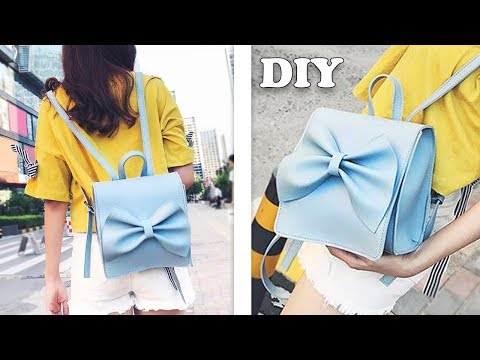 SO CUTE DIY BACKPACK TUTORIAL // Easy Making Bowknot Bag & Backpack Design from Scratch