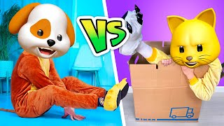 Cats vs Dogs | PETS competition!- Relatable musical by La La Life Emoji