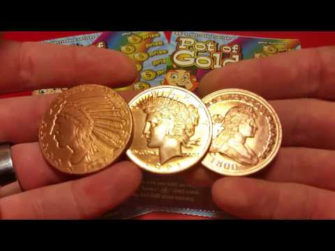 1oz Copper Bullion coin GAW---New Instant Games Played From the PA Lottery