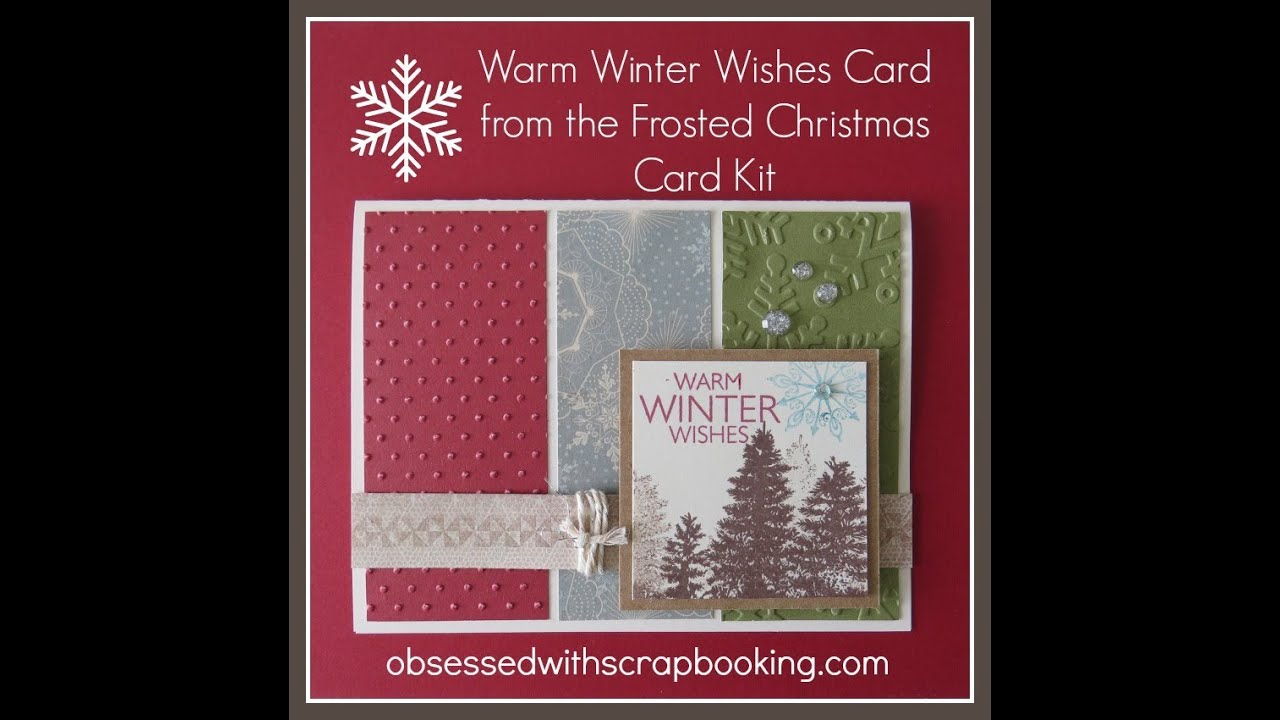 Close To My Heart Frosted Christmas Card Kit