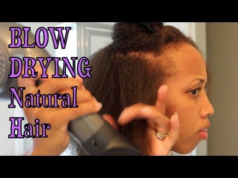 How I Blow Dry My Natural Hair
