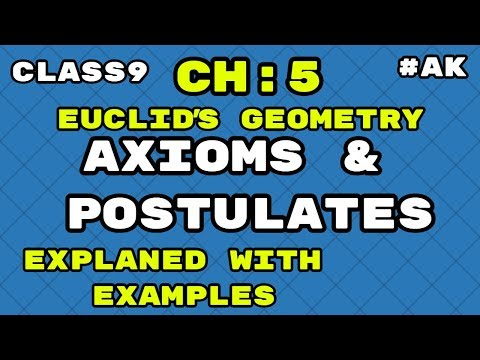 Euclid's geometry class 9 Axioms and Postulates with examples  by Akstudy 1024