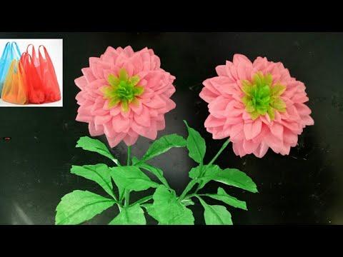 114 Cara Membuat Bunga Dahlia Dari Plastik Kresek How To Make Dahlia Flower With Plastic Bag Youtube
