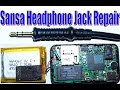 HOW TO OPEN AND FIX REPAIR SANSA CLIP HEADPHONE JACK