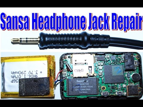 how to open and fix repair sansa clip headphone jack youtube. Black Bedroom Furniture Sets. Home Design Ideas