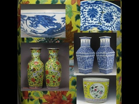 Chinese Blue And White And Famille Jaune Porcelain