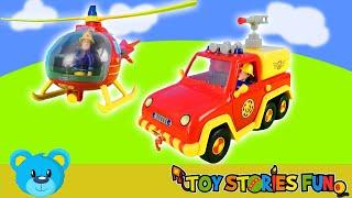 1 Stunde Spaß mit Feuerwehrmann Sam   Spielzeugautos, Unboxing, Bergstation, Leuchtturm Video