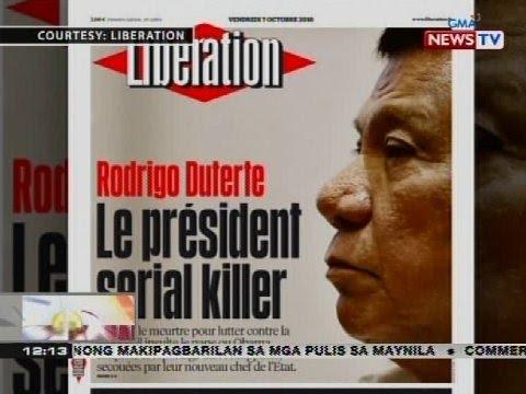 French newspaper, tinawag na 'serial killer' si Pangulong Duterte