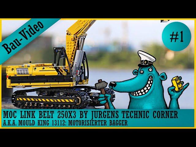 Link Belt 250X3 / Mould King 13112: Ein Bagger baut sich nicht selbst, also muss der Käpt'n ran! #1
