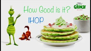 Green Pancakes Food Review...Dr Seuss The Grinch Menu at IHOP