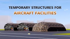 Semi-permanent and Temporary Structures of Liri Tent for Aircraft Facilities