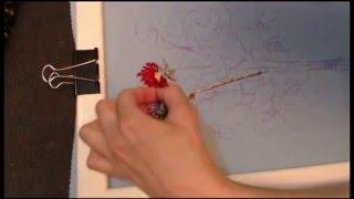 Вышивка лентами для начинающих. Вышивка Астры. Способ №2
