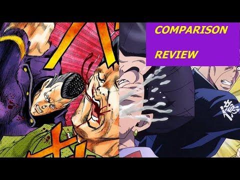 Jojo Anime Manga Comparison