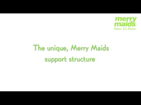 Merry Maids franchise opportunity - offering  a unique structure of brand support