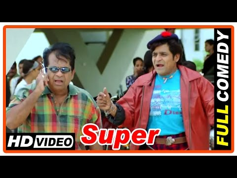 Super Tamil Movie   Full Comedy Scenes   Nagarjuna   Ayesha Takia   Anushka   Brahmanandam