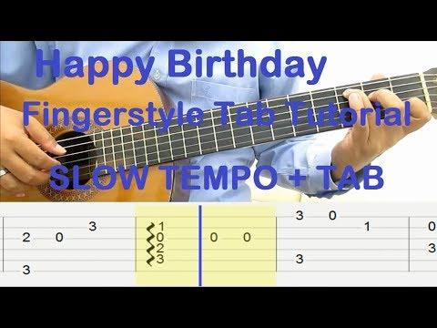 happy birthday guitar tab pdf