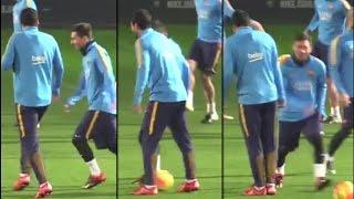 Messi Nutmegs Suárez Barcelona | Caneta Treino | El caño entrenamiento &25 hf4hs