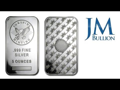5 oz Sunshine Minting Silver Bar ➜ JMBullion.com
