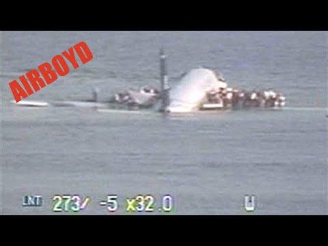 US Airways 1549 Crash Landing Hudson River CCTV